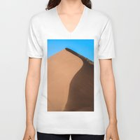 dune V-neck T-shirts featuring Dune Hike by Katie Jo Sheppard