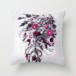 Skull Red Throw Pillow