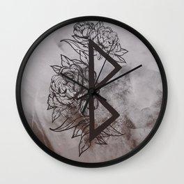 Growth Rune Wall Clock