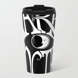 Carpe Noctem - black Metal Travel Mug