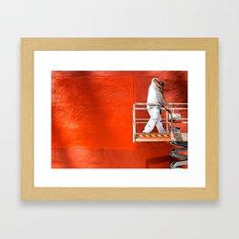 Wall of Orange Framed Art Print