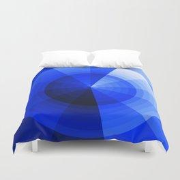 Monochromatic Blue Sphere Duvet Cover