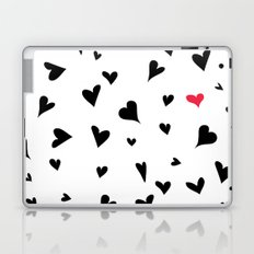 black hearts with one pink one  Laptop & iPad Skin