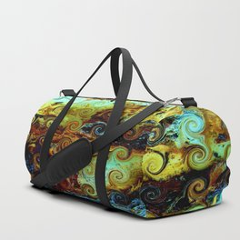 Colorful Wood Spirals Background #Abstract #Nature Duffle Bag