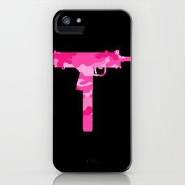Pink Camo Uzi iPhone Case