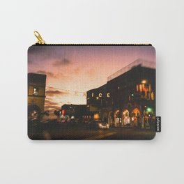 Venice Beach, palm trees, vintage, oceanside, people,  beach photography, California photography Carry-All Pouch