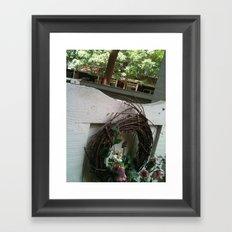 White Fence Framed Art Print