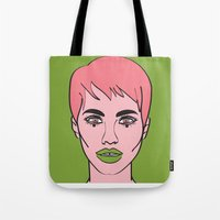 mod Tote Bags featuring Mod by Grace Teaney Art