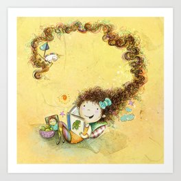 Greña ~ Crazy Hair Orange Art Print