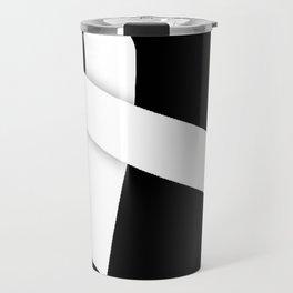 White Ribbon Travel Mug