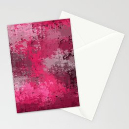Abstract Shades of Pink Stationery Cards