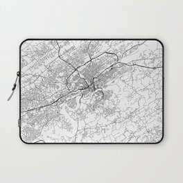 Minimal City Maps - Map Of Knoxville, Tennessee, United States Laptop Sleeve