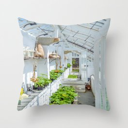 The Lost Gardens of Heligan - Victorian Glass House 1 Throw Pillow
