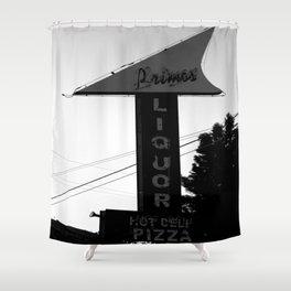 Primo's Liquor and Deli Sign Shower Curtain