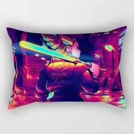 Cyberpunk Princess of Power Rectangular Pillow