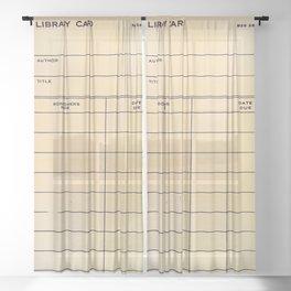 Library Card BSS 28 Sheer Curtain