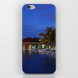 Calm Pool at Dusk in Cuba iPhone Skin
