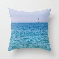 sail Throw Pillows featuring Sail by KASIA