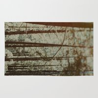 oregon Area & Throw Rugs featuring Oregon Woods by Leah Flores