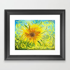 Sunflower Symphony Framed Art Print