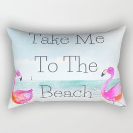 Take Me To The Beach Rectangular Pillow