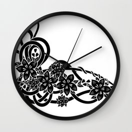 Abstract floral ornament Wall Clock