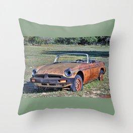MG B Throw Pillow
