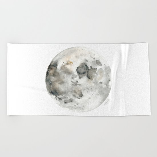 Bare Moon Beach Towel