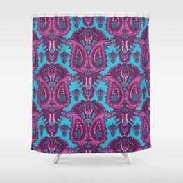 Hand drawn paisley motif illustration. Shower Curtain