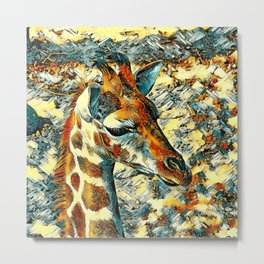 AnimalArt_Giraffe_20170902_by_JAMColorsSpecial Metal Print
