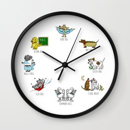 Know Your Dogs Wall Clock