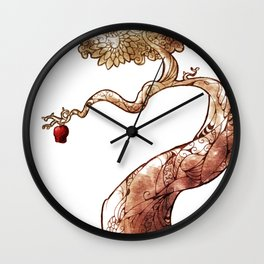 Red and Crooked Wall Clock