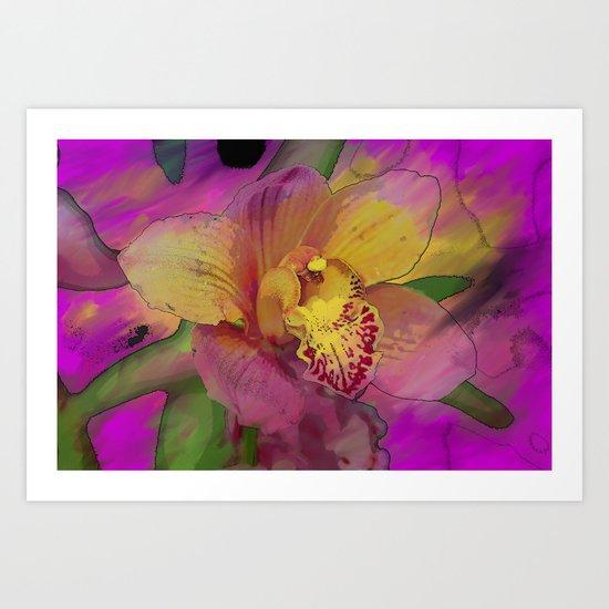 Briliant Painted Orchid  Art Print