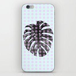 Monstera Dots iPhone Skin