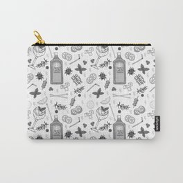 Gin Cocktails Black and White Cocktail Bar Pattern Carry-All Pouch