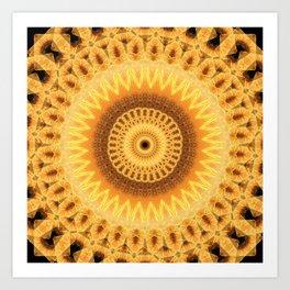 Embers Mandala Art Print