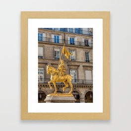 Statue of Joan of Arc on Place des Pyramides in Paris Framed Art Print