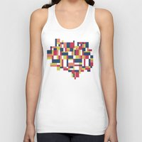 matisse Tank Tops featuring Map Matisse #1 by Project M