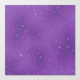 Purple Night Nebula Canvas Print