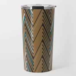 Abstract Chevron III Travel Mug
