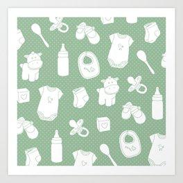 Baby green Art Print