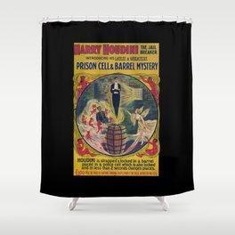 Original Harry Houdini Poster (Prison Breaker) Shower Curtain