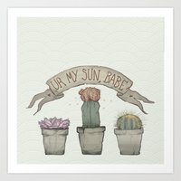 cacti Art Prints featuring Cacti by Cesca Summers