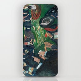 At the Roulette Table in Monte Carlo by Edvard Munch iPhone Skin