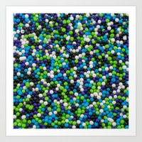 sprinkles Art Prints featuring Sprinkles by Jessica Torres Photography