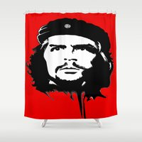 che Shower Curtains featuring CHE by favewavearts