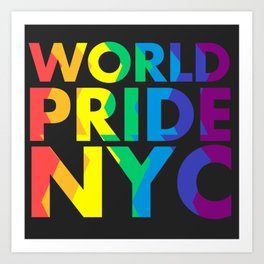 WORLD PRIDE NYC Art Print