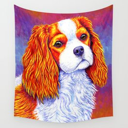 Colorful Cavalier King Charles Spaniel Wall Tapestry