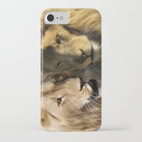 lions iPhone & iPod Cases featuring Lions by Julie Hoddinott