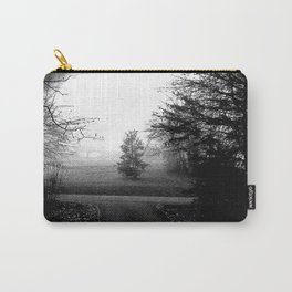 Black and White Woods Carry-All Pouch